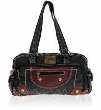 Schultertasche ELEPHANT CASUAL ME Tasche Handtasche Damentasche 3695 Bag SCHWARZ