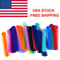 Dental Orthodontic Ligature Ties Elastic Elastomeric Rubber Bands Chain Color US