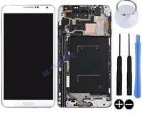 ECRAN LCD + VITRE TACTILE SUR CHASSIS POUR SAMSUNG GALAXY NOTE 3 N9005 BLANC