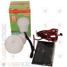 Kit Energia Solare Lampadina a Led Ricaricabile con Batterie e Pannello Solare