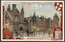 Law Legal Justice Court Building London Londres England 1909 Trade Ad Card