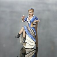 Toy Soldiers Saloon Woman 54mm Painted Girl Figurine Tin Female Saloon Lady