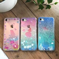 Princess Ariel Mermaid Alice 3D Relief case cover for iPhone 6 7 8 X Plus XS XR