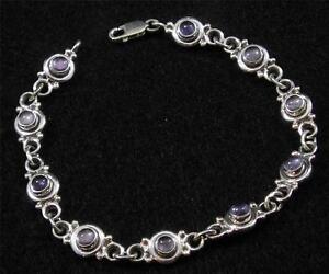 "Beautiful IOLITE Gemstone HANDCRAFTED Present 925 Silver Plated 8/"" BRACELET"