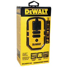DeWALT 140 WATT POWER INVERTER 12V DC to 120V AC + 2 USB HEAVY DUTY CONSTRUCTION