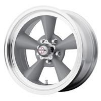 """5x120.65 4 Wheels 15"""" Inch Rims AMERICAN RACING VN309 TT O 15x7 -6mm Silver"""