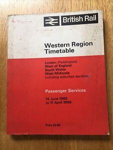 June 1965 - April 1966 Passenger Railway Timetable Western Region British Rail