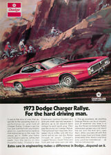 1973 DODGE CHARGER RALLYE OPTIONAL 440-4  ~  ORIGINAL PRINT AD