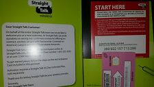 Straight Talk T-Mobile Nano Sim card activation kit Gsm 4G Lte