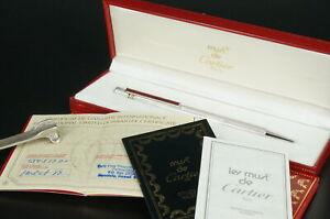 Cartier Ballpoint pen  Trinity Silver Bordeaux w/Box #CB09