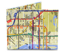 DYNOMIGHT NYC SUBWAY MAP MIGHTY WALLET TYVEK  DY-414