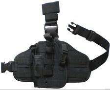 HEAVY DUTY DROP LEG GUN HOLSTER LEFT HAND Baretta Glock Ruger S&W HK Pistol Case