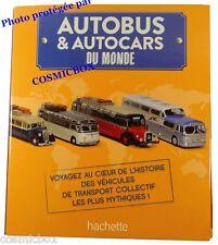 Classeur BUS autobus autocars du monde 7 fascicules Hachette binder prize files