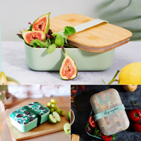 Eco Friendly Bamboo Reusable Lunch Box Bento Food Container Sandwich Box Storage