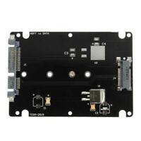 Black B+M key Socket 2 M.2 NGFF (SATA) SSD to 2.5 SATA Card with Ca Adapter L7P3