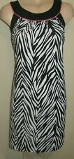 LADIES GORGEOUS BLACK WHITE CORAL PARTY DRESS SIZE 16 UK BY TIANA B