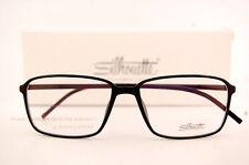 New Silhouette Eyeglass Frames SPX ILLUSION 2887 6050 Black Women Men SZ 55