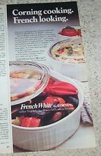 1985 print ad - Corning Ware French White cookware Glass Works NY vintage ADVERT