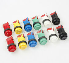 12x 30mm Happ Style Push Buttons + Micro Switch For Arcade Gaming Kits Parts KOF