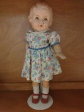 """Antique 16"""" Unmarked Composition Doll"""