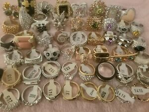 Jewelry Ring lot 50 PIECES Rhinestone Crystal Accent Camille Lucie  Random pick