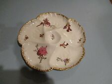 Antique Limoges OYSTER PLATE CH FIELD HAVILAND GDA Seaweed and Shells c.1900 9in