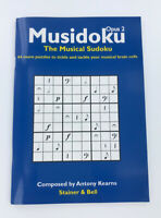 Musidoku Opus 2, The Musical Sudoku, 44 music puzzle book, paperback, by Kearns