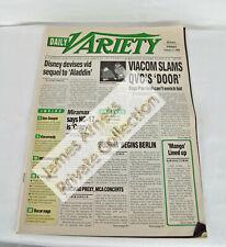 "James Arness Marshal Dillon Gunsmoke 1994  ""Daily Variety "" Magazine"
