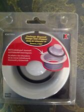 New Keeney White Garbage Flange and Stopper K5417Wh