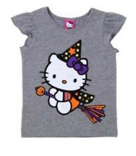 Hello Kitty Baby Girl Halloween Shirt Witch Cat T-Shirt / Grey 18 Months New