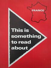 4/1970 PUB AEROSPATIALE CONCORDE AIRBUS RALLYE PUMA MISISILE ESPACE ORIGINAL AD