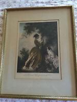 ANTIQUE/VTG LITHOGRAPH BY FRANZ HANFSTAENGL 19TH CENTURY RE-PRINT