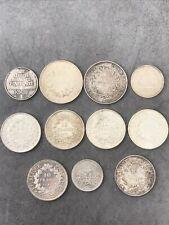 Lot de pieces de monnaies argent Française