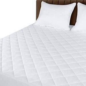 Utopia Bedding Quilted Fitted Mattress Pad California King - Elastic Fitted M...