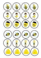 24 Edible cake toppers decorations Honey Bee Girl
