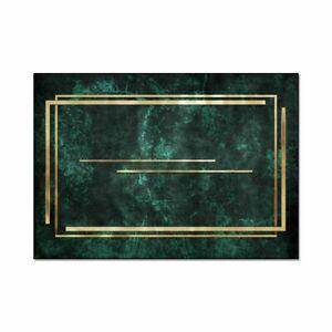Bubble Kiss Nordic Gold Green Pattern Carpet Bedroom Non-slip Floor Mats Rugs