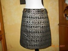 AN ORIGINAL MILLY OF NEW YORK BLACK GOLD METALLIC SKIRT SZ 6 NICE!!!