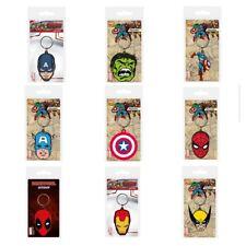 Marvel Comics CAPTAIN AMERICA - IRONMAN - HULK - DEADPOOL - SPIDERMAN - KEYCHAIN
