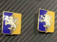 Us Army Di Dui Unit Crest 209th Field Arty Bn G23 Hm, 1 Pair Lot Cb