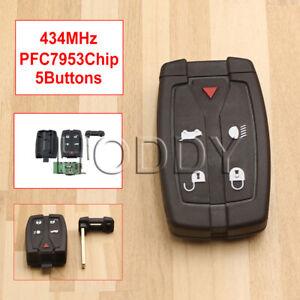 433Mhz 5 Button Remote Key Fob Inc Blade For Land Rover Freelander 2 2007-2015