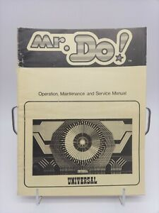 1982 Mr. Do! Universal  Video Arcade Game Operation Manual Printed in Japan