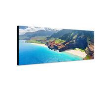 150x50cm Hawaii Panorama Insel Kauai Na Pali Küste Ufer Sand Wandbild Sinus Art
