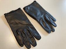 kurze Lederhandschuhe für Damen, von ROECKL, Größe 7,5, schwarz