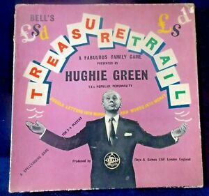 Vintage Treasure Trail Board Game  - Hughie Green Bell Toys 1960 - RARE!!