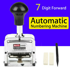7 Position Automatic Numbering Machine Chapter Marking Machine Digital Stamp
