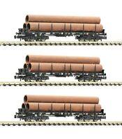 "Fleischmann N 826702 Flachwagen-Set ""Gattung Rmms"" der DB AG - NEU + OVP"