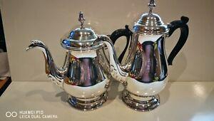 Very Clean Superb Antique Vintage Art Deco Silver Plated 2PC Tea Set
