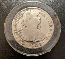 1804 Mexico Silver 8 Reales Spanish Colonial Silver Antique Coin