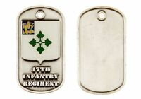 ARMY 47TH INFANTRY REGIMENT REGULATION SIZE WITH CHAIN NECKLACE  DOG TAG
