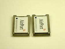 Lot of 2x Apple AirPort Pc24-H - Original Apple AirPort 802.11b Wireless Card